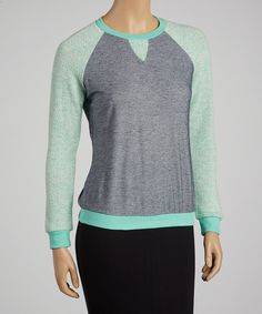 Take a look at this Lucca Couture Steel Blue Raglan Sweater on zulily today!