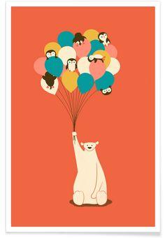 Penguin Bouqet en Affiche premium par Jay Fleck | JUNIQE