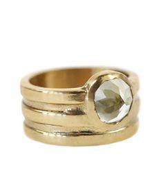 Aesa Bronze Water Horizon Ring