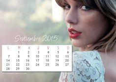 Calendario Septiembre 2015 | El Rincón de Taylor | Todo lo que necesitas saber sobre Taylor Swift.