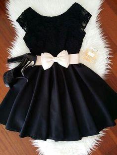 Little bow black dress