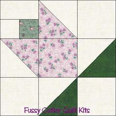 Flower Buds Pattern Grab Bag Fabric Easy Pre-Cut Quilt Top Kit