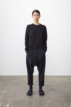 braless, defined ankles, oversized black sweater Studio Nickolson-Pre, AW14/15.