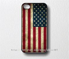 iphone 4 case, iphone 4s case, iphone case - Grunge USA Flag iphone 4 Case. $9.99, via Etsy.
