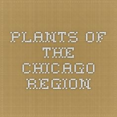 Plants of the Chicago Region