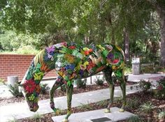 "'Horse of Plenty' - one of 52 horse statues for ""Horse Fever"" in Ocala, Florida  (2008)"