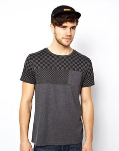 New Look T-Shirt with Check Print