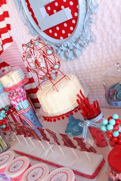 Carnival theme dessert table!