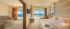 PORCELANOSA Grupo Projects: The 'soulful' refurbishment of the Hotel Don Pancho in Benidorm, Alicante Alicante, Interior Styling, Interior Design, Solid Surface, Windows, Architecture, Bedroom, Projects, Refurbishment