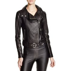 Mackage Hania Perforated Leather Motorcycle Jacket - 100%... (1,020 CAD) ❤ liked on Polyvore featuring outerwear, jackets, black, black moto jacket, mackage jacket, perforated leather jacket, leather jacket and motorcycle jacket