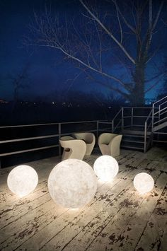 Floor lamp / contemporary / garden EX MOON 1/2/3 in-es artdesign