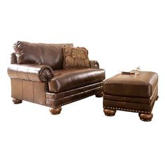 Signature Design by Ashley Chair and a Half with Ottoman