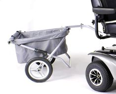 Power Scooter Trailer The Power Scooter Tow Trailer, exclusive to Drive Medical, adds versatility and storage to your power scooter. Allowing you to transport large or heavier items in tow, this trailer is made for outdoor use. It comes with a removable cover to keep your items inside in case you hit any bumps along the way, or just to keep it clean. The Tow Trailer easily folds up for storage when not in use, and contains almost 8 cubic feet of space.  Read More