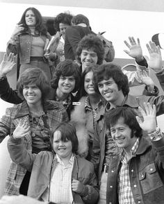 The Osmonds: Jimmy, Merrill, Mary, Donny, Jay, Marie, Alan and Wayne Osmond