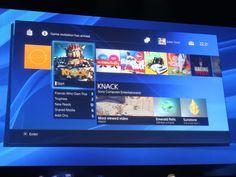 PS4's new main menu