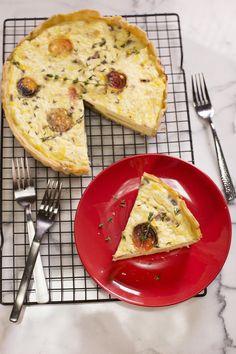 Oven Roasted Tomato, Basil, and Mozzarella Quiche – A Beautiful Mess
