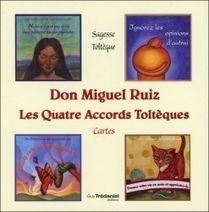 b68a9251f0748 Coffret Les Quatre Accords Toltèques - Don Miguel Ruiz - Librairie Bien-être Cartomancie  - Sentiers du bien-être