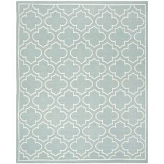 Safavieh Hand-woven Moroccan Reversible Dhurrie Blue Wool Rug (9' x 12') - Overstock Shopping - Great Deals on Safavieh 7x9 - 10x14 Rugs