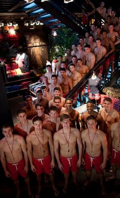 all of the hollister models....oh my gosh.