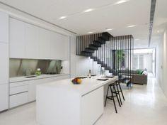 White + staircase