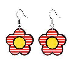 d5161fd33 US $1.99 5% OFF|Aliexpress.com : Buy Fashion Flower Shaped Plastic Acrylic  Dangle Earrings For Little Girls Kawaii Flatback Resin Charm Children's  Jewelry ...