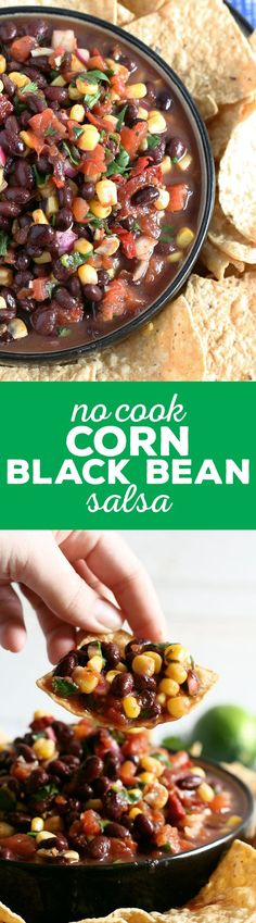 Personalized Graduation Gifts - Ideas To Pick Low Cost Graduation Offers My No Cook Corn Black Bean Salsa Recipe Takes 10 Minutes To Make And Is Perfect For Parties, Tailgating And Holidays. Make This Your New Favorite Quick Appetizer No Cook Appetizers, Easy Appetizer Recipes, Healthy Appetizers, Appetizer Ideas, Healthy Snacks, Healthy Recipes, Best Party Food, Party Food And Drinks, Party Snacks