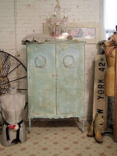 Vintage Painted Cottage Shabby Aqua Chic by paintedcottages, $395.00