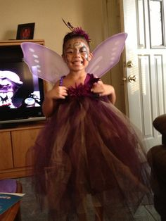 I did my little girl's Halloween costume. A glittery butterfly. She loved it so much,