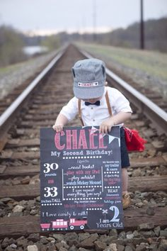 Toddler Photography Prop, 2nd Birthday, Toddler Train Conductor Hat, Personalized Outfit, Toddler Boy, Toddler Photos, Train Hat, Halloween by AllAboardWhistle on Etsy https://www.etsy.com/listing/242569005/toddler-photography-prop-2nd-birthday
