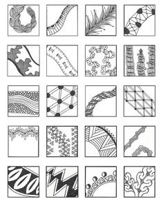 Linear 1 ZENTANGLE PATTERNS