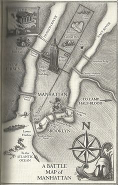 Battle map from Percy Jackson and the Olympians