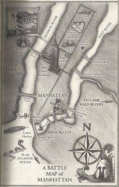 Battle map of Manhattan