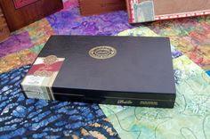 Cigar Box Thin Black & Gold Wood Chest by IndustrialPlanet on Etsy
