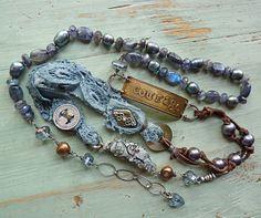 Courage Wrap Bracelet/necklace by ninabagley on Etsy