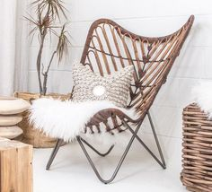 New items in the shop including this babe! Rattan Butterfly chair (link in Bio) plus it's FRI-YAY! So we all have that going for us Chair Design, Furniture Design, Design Lounge, Deco Boheme, Cafe Interior, Occasional Chairs, Bohemian Decor, Eames, Reading Nooks