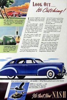 "Vintage Automobile Advertising: 1939 Nash, Nash Motors Division, Nash-Kelvinator Corporation, Detroit. Mich., ""It's That New Nash""."
