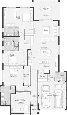 Vespa Display Home - Lifestyle Floor Plan Home Theater Decor, Home Theater Design, Dream Home Design, House Design, Modern House Floor Plans, Craftsman Floor Plans, My House Plans, Interior Architecture Drawing, Architecture Design