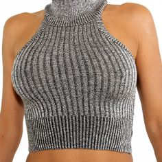 Turtle Neck Crop Top Comfortable, sleeveless Turtle Neck Crop Top available at Peacockbliss in bold colors of white, grey and peach. Causal to wear any time day or night. $20.00
