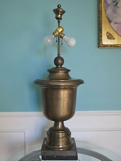 VTG CHAPMAN Neoclassical Brass Trophy/Urn Lamp Mid-Century Hollywood Regency  #UrnNeoclassicalHollywoodRegency