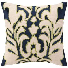I pinned this Fleur Pillow in Navy from the Colorwheel event at Joss and Main!