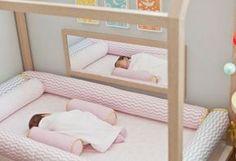 Montessori nursery - Montessori world - Montessori Bedroom, Montessori Baby, Nursery Room, Baby Room, House Beds, Little Girl Rooms, Baby Decor, Girls Bedroom, Kids Room