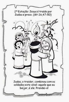 Jardim da Boa Nova: Via Sacra Coloring Pages, Comics, History Of Easter, Sunday School Kids, Kids Bible Activities, Catechism, Sunday School, Historia, Crafts