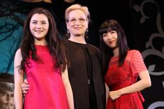 リラ・クロフォード、メリル・ストリープ、神田沙也加:メリル・ストリープが4日、ミュージカル映画『イントゥ・ザ・ウッズ』のプロモーションのため3年ぶりの来日