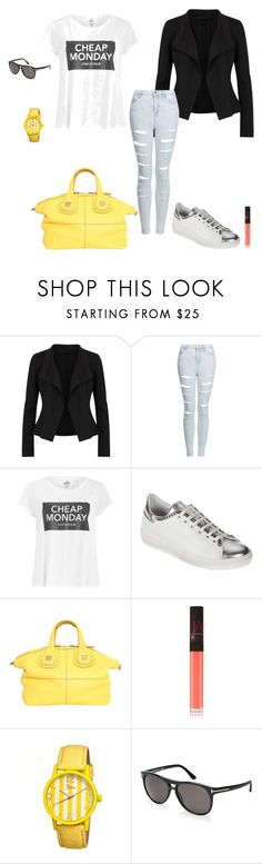 """Cheap monday"" by micha-p ❤ liked on Polyvore featuring Donna Karan, Topshop, Cheap Monday, Givenchy, NARS Cosmetics, Boum and Tom Ford"
