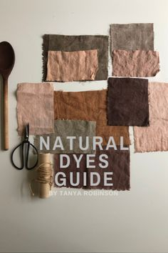 Learn how to dye naturally at home on silk, linen and cotton with this Natural dyes guide module by Tanya Robinson from Feltcollage Natural Dye Fabric, Natural Dyeing, Fabric Dyeing Techniques, Shibori, How To Dye Fabric, Dyeing Fabric, Monochrom, Wet Felting, Fabric Painting
