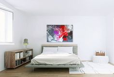 "Never underestimate simplicity.  Lazarus 40""x60"" acrylic, resin, panel"