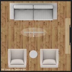 15 formas de distribuir los muebles en un salón cuadrado Living Pequeños, Kitchen, Houses, Shapes, Home, Cooking, Kitchens, Cucina, Stove
