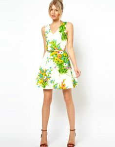 Love this: Oasis Floral Fit And Flare Dress @Lyst