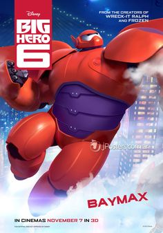 Sechs Character Poster zu Disney Animations Big Hero 6 (Baymax). #bighero6 #baymax