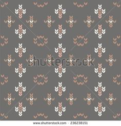 Ornamental pattern for knitting and embroidery, stock vector